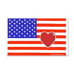 Heart Flag Car Magnet 20 x 12