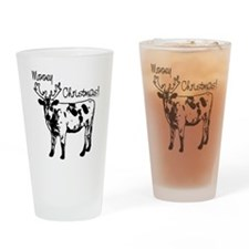 Mooey Christmas Drinking Glass