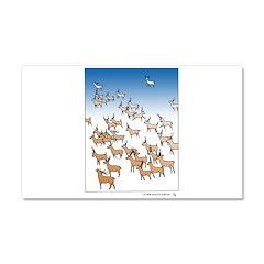 Reindeer Herd Car Magnet 20 x 12