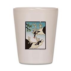 2 Reindeer Pine Shot Glass