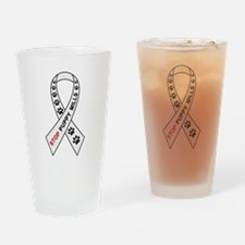Stop Puppy Mills Ribbon Drinking Glass