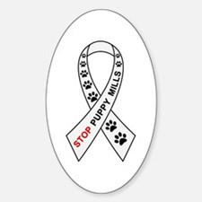 Stop Puppy Mills Ribbon Decal