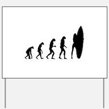 Evolution cowboy Yard Sign