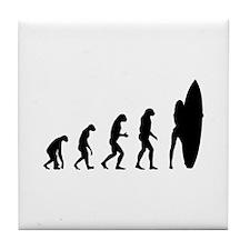 Evolution surfing Tile Coaster