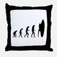 Evolution surfing Throw Pillow