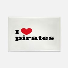 I love pirates Rectangle Magnet
