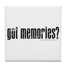 got memories? V.2 Black - Tile Coaster