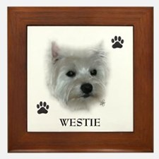 Westie Framed Tile