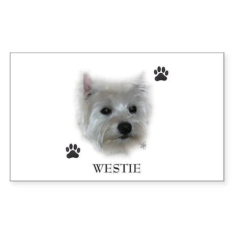 Westie Rectangle Sticker