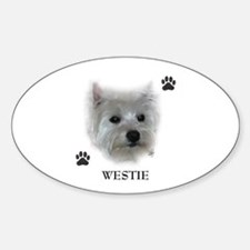 Westie Oval Decal