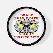 Airborne; Do Not Fear Death Wall Clock