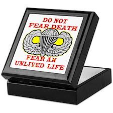 Airborne; Do Not Fear Death Keepsake Box