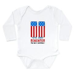 9/11 2001 Long Sleeve Infant Bodysuit