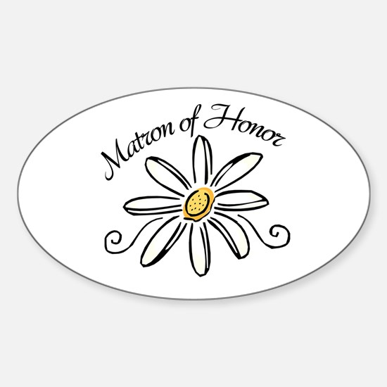 Matron of Honor Sticker (Oval)