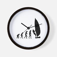 Evolution windsurfing Wall Clock