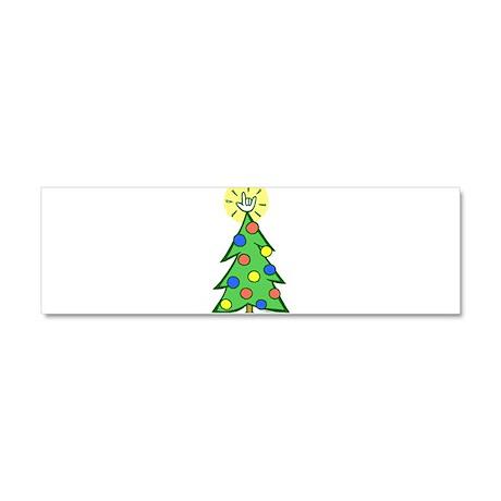 ILY Christmas Tree Car Magnet 10 x 3