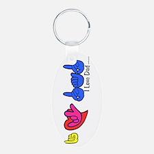 I-L-Y Dad Keychains