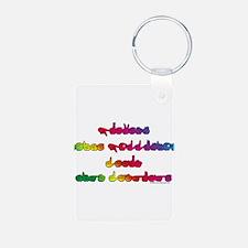 Rainbow PREVENT NOISE POLLUTI Keychains