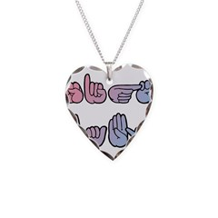 PinkBlue SIGN BABY SQ Necklace