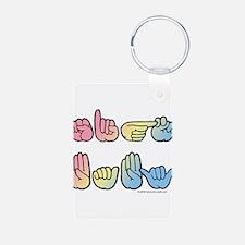 Pastel SIGN BABY SQ Keychains