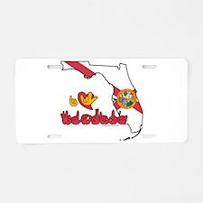 ILY Florida Aluminum License Plate