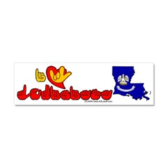 ILY Louisiana Car Magnet 10 x 3