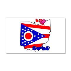 ILY Ohio Car Magnet 20 x 12