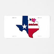 ILY Texas Aluminum License Plate