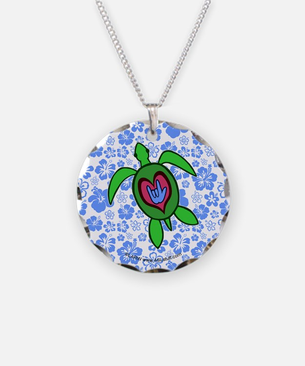 ILY Hawaii Turtle Necklace