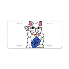ILY Neko Cat Aluminum License Plate
