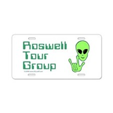 RoswellTourGroup Aluminum License Plate