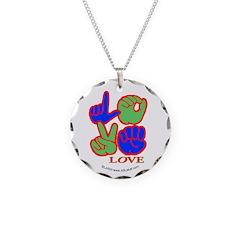 Square F.S. LOVE Necklace