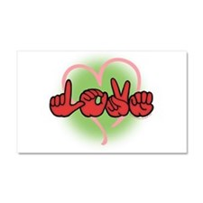 LoveWithHeart Car Magnet 20 x 12