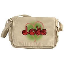 LoveWithHeart Messenger Bag