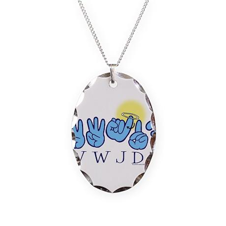 WWJD? Necklace Oval Charm