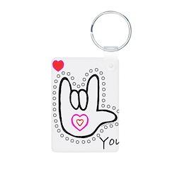 B/W Bold I-Love-You Keychains