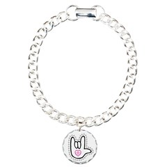 B/W Bold Love Hand Bracelet