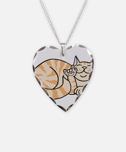 OrangeTabby ASL Kitty Necklace