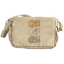 3 ASL Kitties Messenger Bag
