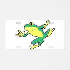 ASL Frog in Flight Aluminum License Plate