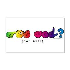 Got ASL? Rainbow CC Car Magnet 20 x 12