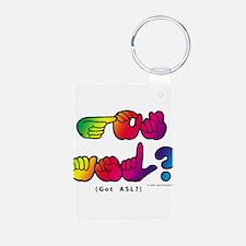 Got ASL? Rainbow SQ CC Keychains