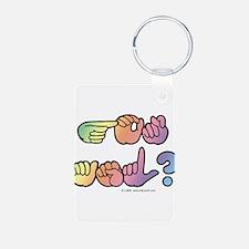 Got ASL? Pastel SQ Keychains