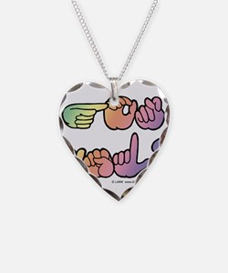 Got ASL? Pastel SQ Necklace