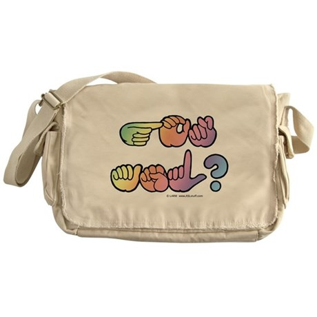 Got ASL? Pastel SQ Messenger Bag