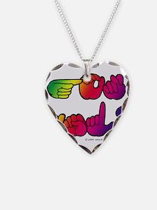 Got ASL? Rainbow SQ Necklace