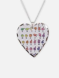 PAS Fingerspelled ABC Necklace