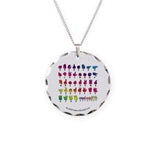 RBW Fingerspelled ABC Necklace Circle Charm