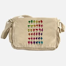 RBW Fingerspelled ABC Messenger Bag