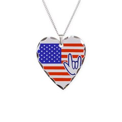 ILY Flag Necklace